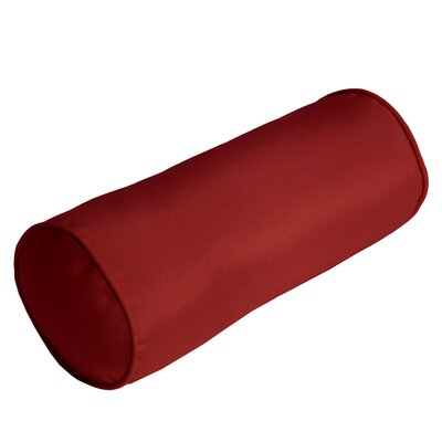 Outdoor Sunbrella Bolster Pillow Color: Jockey Red