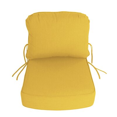 Outdoor Sunbrella Deep Setting Chair Cushion Fabric: Sunflower