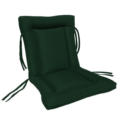 European Quilt Outdoor Sunbrella Chair Cushion Fabric: Forest Green