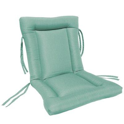 European Quilt Outdoor Sunbrella Chair Cushion Fabric: Glacier