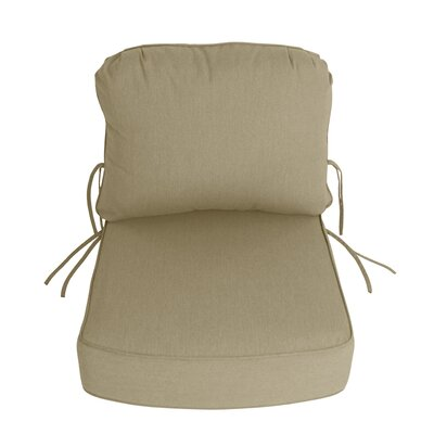 Outdoor Sunbrella Deep Setting Chair Cushion Fabric: Antique Beige