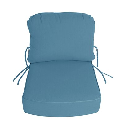Outdoor Sunbrella Deep Setting Chair Cushion Fabric: Sky Blue