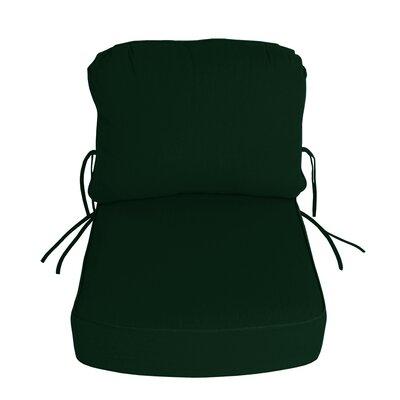 Outdoor Sunbrella Deep Setting Chair Cushion Fabric: Forest Green