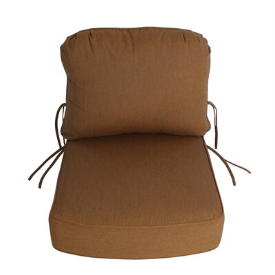 Outdoor Sunbrella Deep Setting Chair Cushion Fabric: Teak
