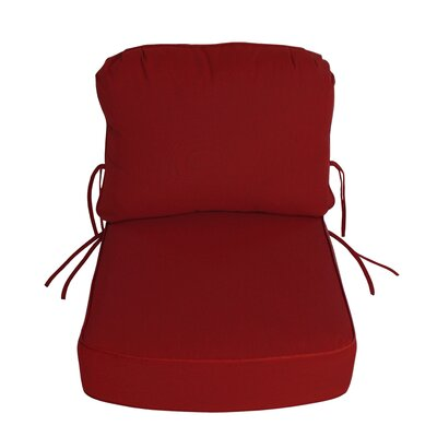 Outdoor Sunbrella Deep Setting Chair Cushion Fabric: Jockey Red
