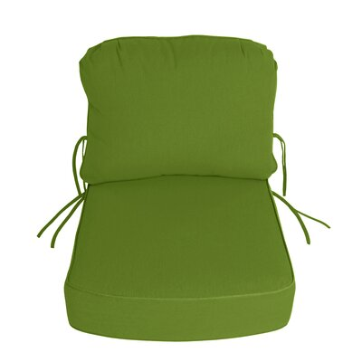 Outdoor Sunbrella Deep Setting Chair Cushion Fabric: Macaw