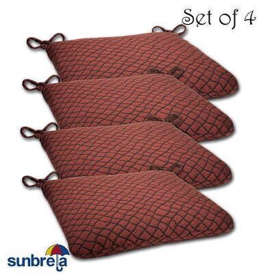 Knife Edge Outdoor Sunbrella Cushion Fabric: Boston Chili