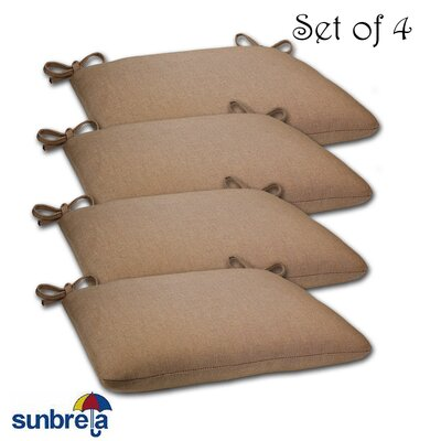 Knife Edge Outdoor Sunbrella Cushion Fabric: Sailcloth Suntan