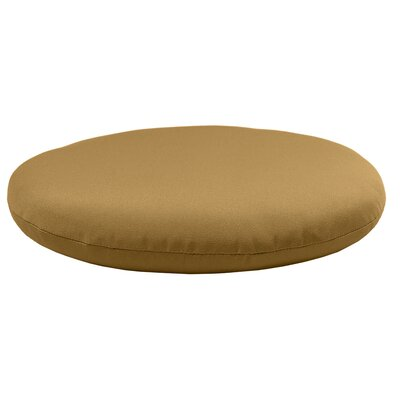 Round Knife Edge Outdoor Sunbrella Cushion Fabric: Brass