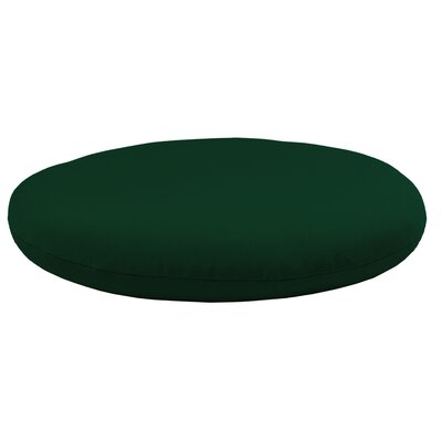 Round Knife Edge Outdoor Sunbrella Cushion Fabric: Forest Green