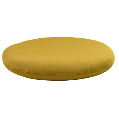 Round Knife Edge Outdoor Sunbrella Cushion Fabric: Sunflower