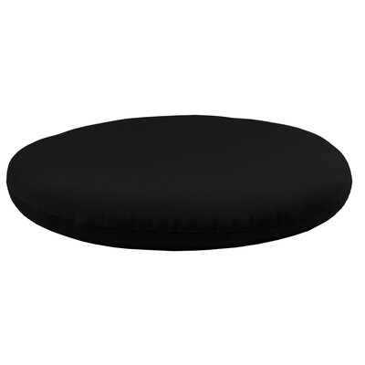 Round Knife Edge Outdoor Sunbrella Cushion Fabric: Raven Black