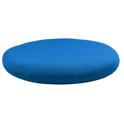Round Knife Edge Outdoor Sunbrella Cushion Fabric: Pacific Blue