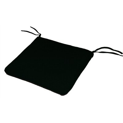 Knife Edge Outdoor Sunbrella Cushion Fabric: Raven Black
