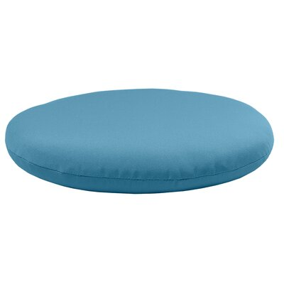 Round Knife Edge Outdoor Sunbrella Cushion Fabric: Sky Blue