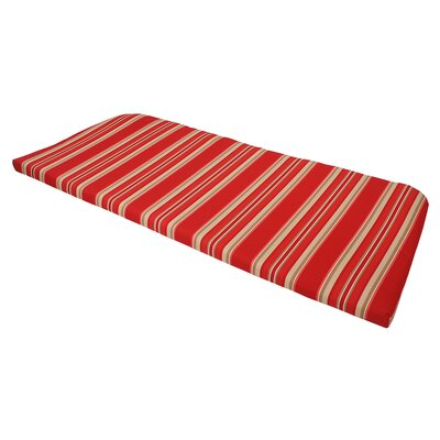Stripe Outdoor Patio Bench Cushion