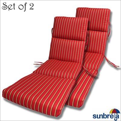 Outdoor Sunbrella Chaise Cushion Fabric: Crimson