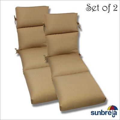 Outdoor Sunbrella Chaise Cushion Fabric: Antique Beige Rib