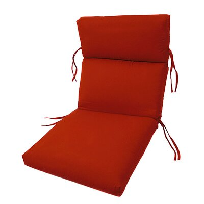 Channeled Outdoor Sunbrella Lounge Cushion Fabric: Jockey Red