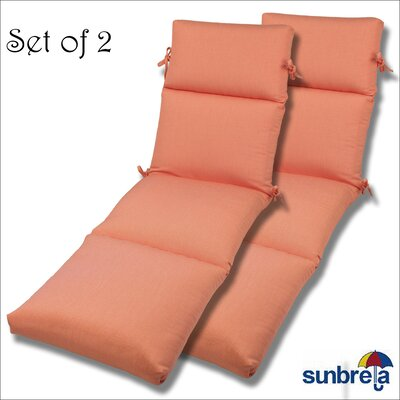 Outdoor Sunbrella Chaise Cushion Fabric: Melon Rib
