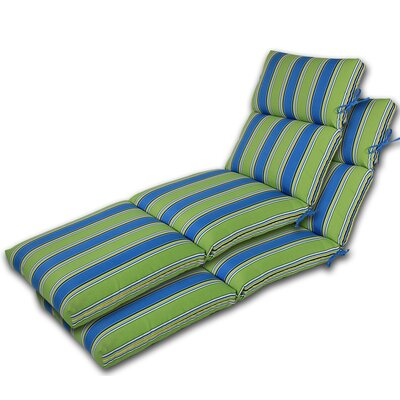 Channeled Reversible Outdoor Chaise Lounge Cushion 129 Product Pic
