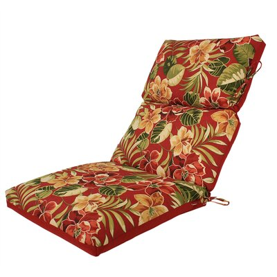 Channeled Reversible Outdoor Lounge Chair Cushion