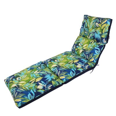 Channeled Reversible Outdoor Chaise Lounge Cushion