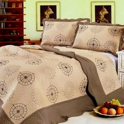 Premium 3 Piece Quilt Set Size: King