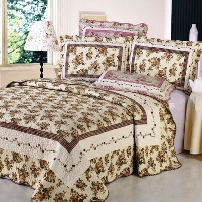 Vintage Chic 3 Piece Reversible Quilt Set Size: King