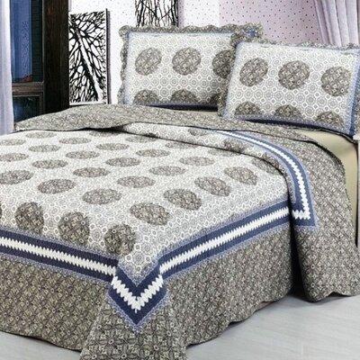 3 Piece Reversible Quilt Set Size: King