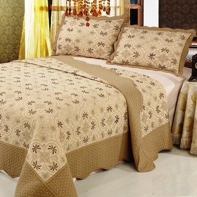 Cairo Premium 3 Piece Quilt Set Size: Full / Queen