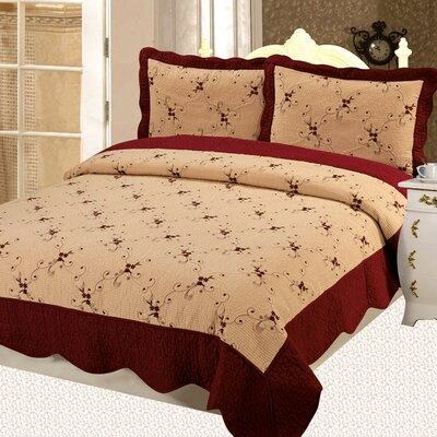 Napoles Premium 3 Piece Reversible Quilt Set Size: Full / Queen