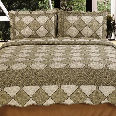 Modern Chic 3 Piece Reversible Quilt Set Size: Full