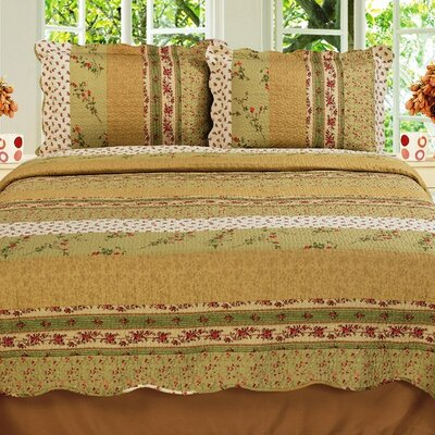 Modern Chic Microfiber 3 Piece Full Quilt Set