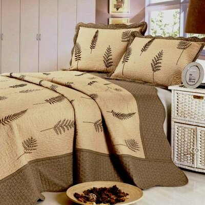 7 Piece Reversible Quilt Set Size: King