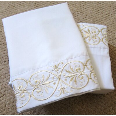 4 Piece Sheet Set Color: White, Size: Queen