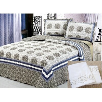 7 Piece Reversible Quilt Set