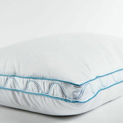 Swirl Pattern Down Pillow Size: 18 L x 34 W