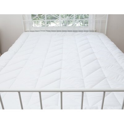 Chevron Luxe 2 Polyester Mattress Pad Bed Size: California King