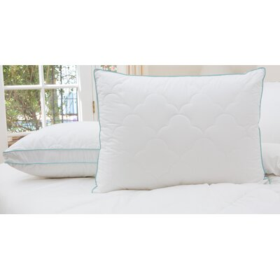 2 Pack Scallop Cloud Quilted Gusset Down Alternative Pillows Size: Jumbo