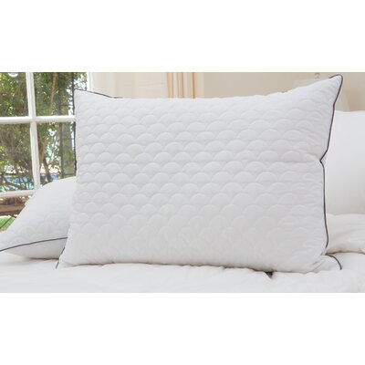 Scallop Quilted Down Alternative Pillow Size: King