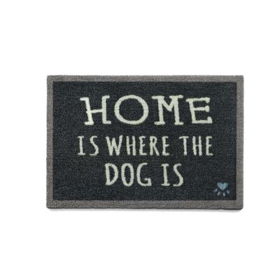 Howler & Scratch Home Doormat Rug Size: 18 x 26, Color: Black