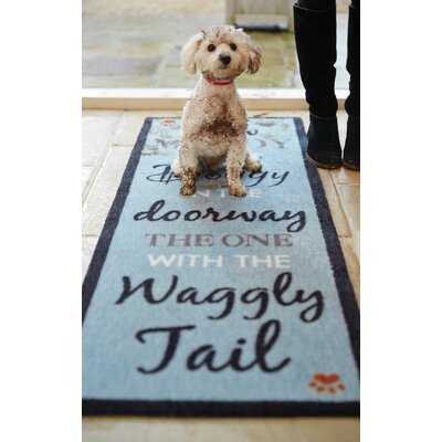 Howler & Scratch Waggly Tail Doormat Color: Blue