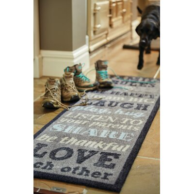 Muddle Mat Word Doormat Mat Size: Runner 18 x 411