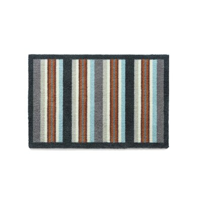 Muddle Mat Stripe Doormat Rug Size: Rectangle 18 x 26