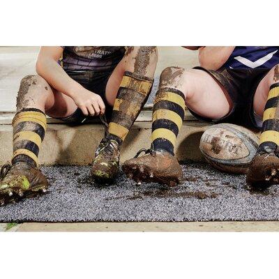Muddle Mat Doormat Mat Size: Runner 18 x 411, Color: Charcoal