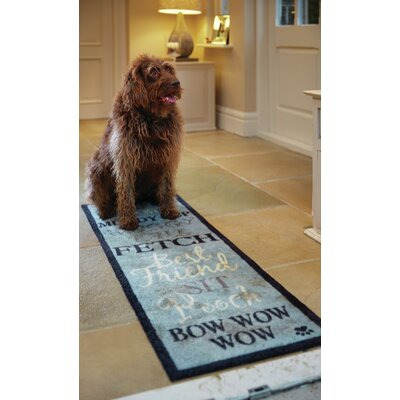 Howler & Scratch Bow Wow Doormat Color: Blue