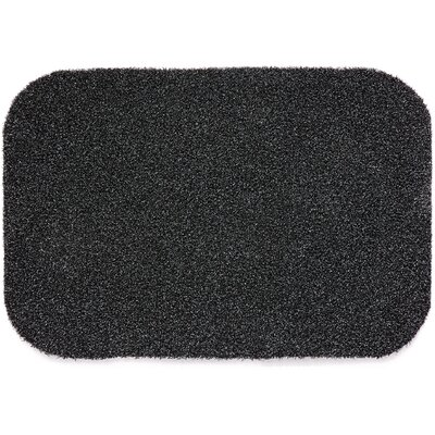 Muddle Mat Doormat Rug Size: Rectangle 18 x 24, Color: Charcoal