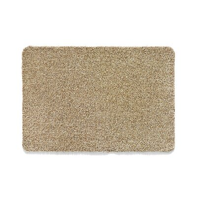 Muddle Mat Doormat Mat Size: Runner 18 x 411, Color: Linen