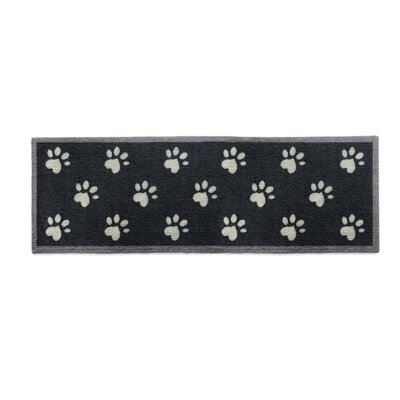 Howler & Scratch Paws Doormat Color: Black, Rug Size: Runner 18 x 411